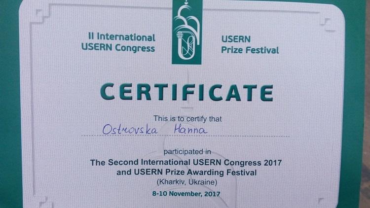 Викладачі медичного факультету – учасники II міжнародного конгресу «Universal Scientific Education and Research Network» (USERN)