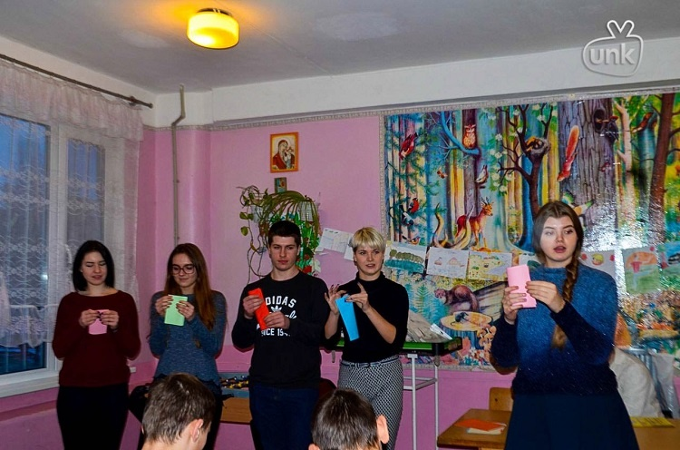 "Students of the School of Medicine – participants of the charitable campaign ""Give love to the children"""