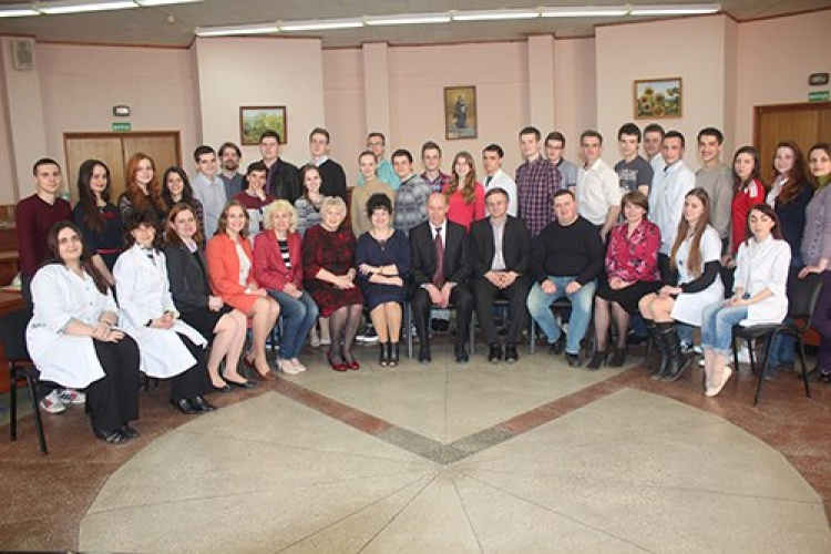 Students of the School of Medicine - participants of the II stage of Ukrainian Student Olympiad in normal physiology