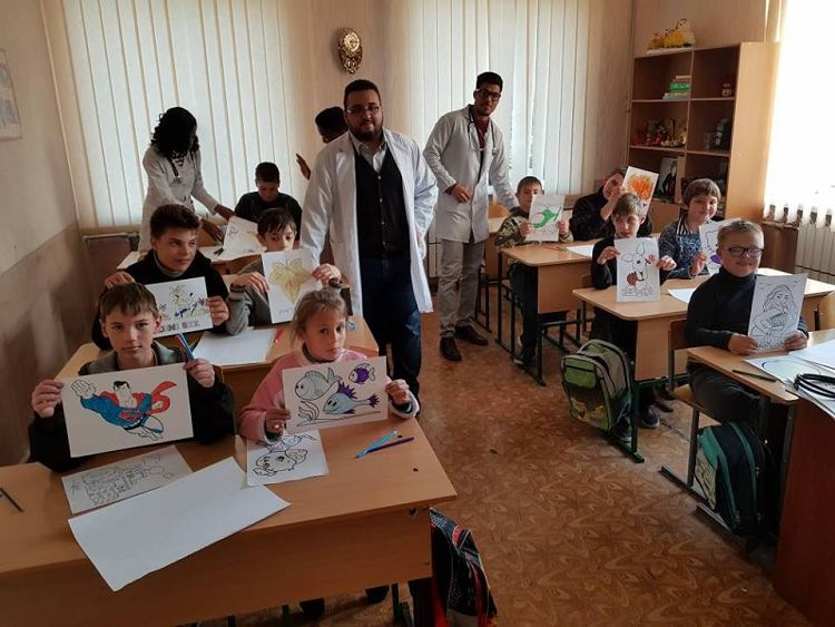 """Students of the School of Medicine - organisators and participants of """"The Teddy Bear Hospital"""" project"""